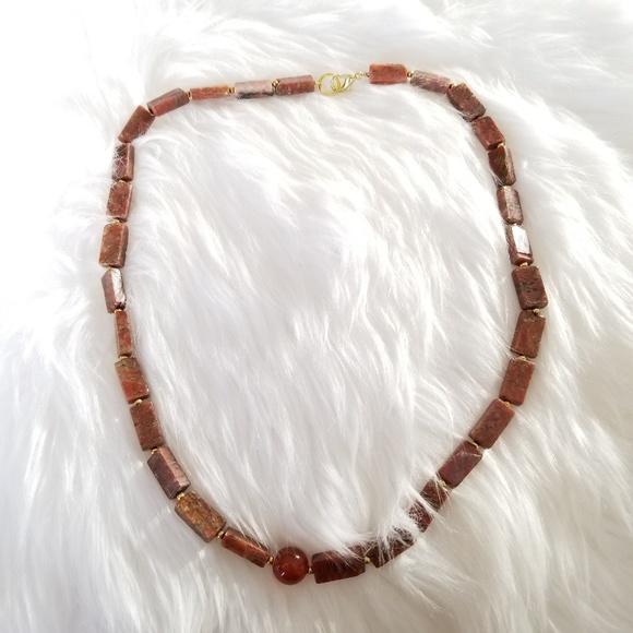 Jewelry - Terra cotta rock necklace